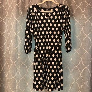 Black and White Polka Dot Shift Dress - Luxology